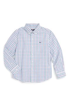 Vineyard Vines 'Freeboard Check - Whale' Sport Shirt (Toddler Boys & Little Boys)