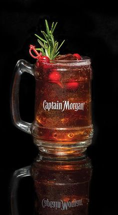 Try the Cranberry Mule cocktail, the Captain's twist on the Moscow Mule made with cranberry juice, ginger ale, and Captain Morgan Original Spiced Rum. Check out more Captain Morgan spiced rum drink recipes.