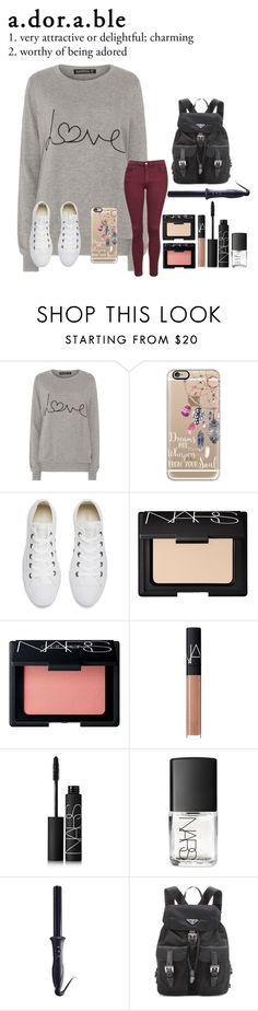 """""""Comfortably Adorable"""" by ittybittyrsunshine ❤ liked on Polyvore featuring Sugarhill Boutique, Topshop, Casetify, Converse, NARS Cosmetics, Sultra and Prada"""