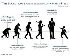 The Evolution Of A Man's Style by Dappered.com