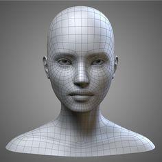 female heads collection model obj mtl fbx stl blend tga 10 - Della U. 3d Model Character, Character Modeling, Character Design, Character Concept, Character Art, Maya Modeling, Modeling Tips, 3d Face Model, Sculpting Tutorials