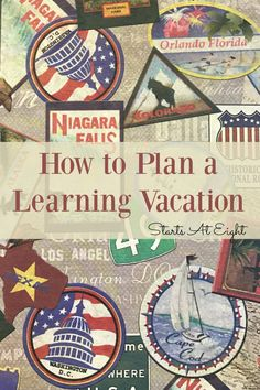 How to Plan a Learning Vacation from Starts At Eight. Includes tons of tips and resources for planning a learning vacation from hotels, to food, and mapping an itinerary, planning your trip will be easy! Homeschool High School, Homeschool Curriculum, How To Start Homeschooling, Home Schooling, Plan Your Trip, Kids Learning, Angels, Activities, How To Plan