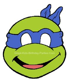Free Printable Kids #Halloween Masks - Teenage Mutant Ninja Turtles Mask.