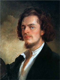 KONSTANTIN YEGOROVICH MAKOVSKY... RUSSIAN PAINTER 06-20-1839 til 09-17-1915 (76) Self-Portrait (1856)