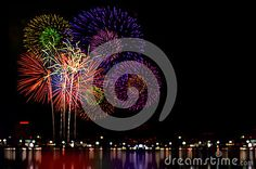 Photo about Colorful fireworks celebration and the city night light background. Image of fireworks, july, december - 82852039 Celebration City, Fireworks, Night Light, Colorful, Stock Photos, Celebrities, Image, Celebs, Celebrity