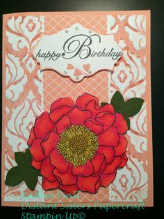 inked embossing folder Stampin Up Blended Bloom