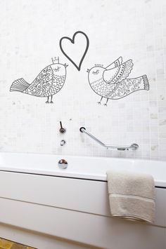 'must be love' birds and heart wall stickers. You can customise these a range of colours too - South African supplier! Now to convince my boyfriend. Heart Wall, Love Birds, Wall Stickers, House Ideas, Boyfriend, Range, African, Colours, Wall Art
