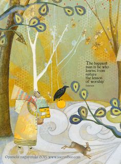 SACREDBEE greeting cards are the creation of Connecticut childrens book author and illustrator Pamela Zagarenski. ***Look for her newest book THE WHISPER.published October She has won two Caldecott Honors: one for SLEEP LIKE A TIGER & one f Words Quotes, Art Quotes, Life Quotes, Inspirational Quotes, Sayings, Illustrations, Nature Quotes, Book Authors, Beautiful Words