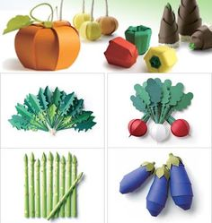 Colorful Veggie Papercraft | Papercraft Paradise | PaperCrafts | Paper Models | Card Models