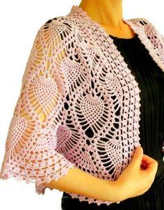For Beginners Shawl crochet bolero pattern pdf chart diagrams Crochet Bolero Pattern, Col Crochet, Gilet Crochet, Crochet Cape, Crochet Cardigan, Crochet Shawl, Crochet Sweaters, Free Crochet, Modern Crochet Patterns
