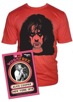 e269fe7d Worn Free - Worn by Alice Cooper, Shirts by Alice Cooper, Alice Cooper T  shirt Designs, Alice Cooper Music Shirts, Alice Cooper Music Tee