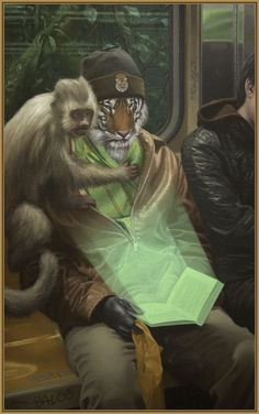 Matthew Grabelsky Shere Khan & The Jungle Book Oil on Canvas 28 x 46 in. (72 x 116 cm.)