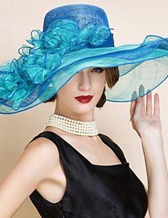 Chapeau Casque Mariage/Occasion spéciale Lin Femme Mariage/Occasion spéciale 1 Pièce