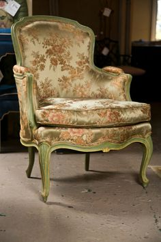 Pair of French Louis XVI Style Bergere Chairs | From a unique collection of antique and modern bergere chairs at http://www.1stdibs.com/furniture/seating/bergere-chairs/