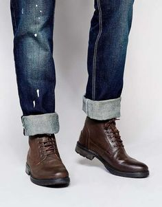 ASOS   Workboots in Leather #asos #workboots