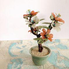 Vintage Glass Bonsai by RedeemedbyShannon on Etsy