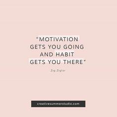 Motivation gets you going and habit gets you there. Quotes, inspirational quotes, motivational quotes, discipline quotes, goals, goals quotes, motivation, discipline.