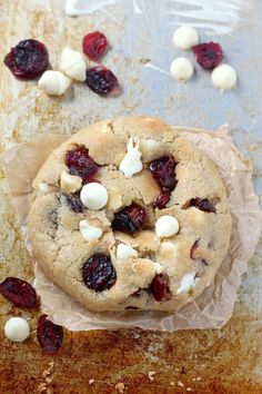 My new favorite cookie! Thick and Chewy White Chocolate Cranberry Cookies