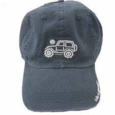 47b9e8118109f Life Is Good Chill Cap - White Ride on Darkest Blue Hat