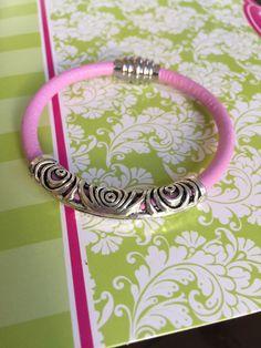 Silver Design Leather Bracelet by joytoyou41 on Etsy