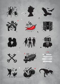 Displate Poster Rock 'n Roll Pictionary rock #music #bands #the #beatles #queen #thedoors #radiohead #ledzeppelin #popculture #clver #drawing #concept