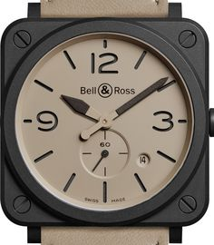 The Bell & Ross Desert Type watches are released, based on the sand-colored outfits of Air Force pilots on desert missions. Luxury Watch Brands, Luxury Watches For Men, Bell Ross, Modern Gentleman, Mens Gear, Watch Companies, Fine Watches, Colourful Outfits, Deserts