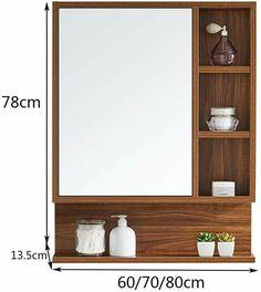 Washroom Design, Bathroom Interior Design, Diy Pallet Furniture, Home Decor Furniture, Bathroom Mirror With Shelf, Small Bathroom Layout, Washbasin Design, Cupboard Design, Mirror Cabinets