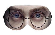 Harry Potter Face Sleep Sleeping Eye Mask Masks Sleepmask Eyemask Night Blindfold Travel kit Eyes cover covers patch wear Slumber Eyewear by venderstore on Etsy