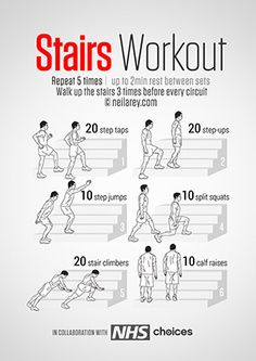 Stairs Workout  loads more poster workouts on the site