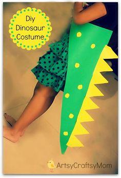 Easiest DIY No Sew Dinosaur costume for kids  | dinosaur toys for boys ,dinosaur party ideas to make, dinosaur crafts for kids ,dinosaur costume for kids #Halloween  #DIY , #KBN
