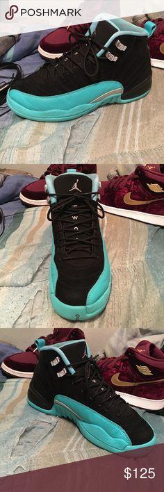 Jade retro 12s 8/10 condition Worn Jordan Shoes Athletic Shoes