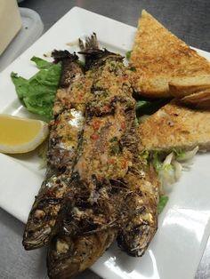 Sardines Portuguese #sardines #portuguese #italianrestaurant #food #fish Oscars Pizza, Pizza Company, Portuguese, Food Pictures, Steak, Tacos, Beef, Fish, Ethnic Recipes