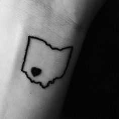 Ohio will always be home. Wrist tattoo!  I want it in white.  With a small red heart over CLE!