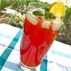 Lemon Mint Iced Tea Allrecipes.com - calls for frozen concentrated lemonade....., not for an everyday item here:  and when/if we try this, it could be adjusted by adding lemon and sugar for lemonade...... instead of the concentrate......