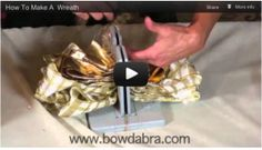 How to make a large wreath and bow video tutorial