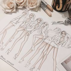 Ideas Fashion Drawing Sketches Dresses Artists For 2019 Illustration Mode, Fashion Illustration Sketches, Fashion Sketchbook, Fashion Sketches, Clothes Design Drawing, Fashion Design Drawings, Fashion Figure Drawing, Fashion Drawing Dresses, Drawing Fashion