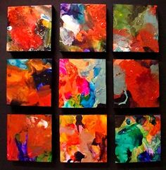Carol Nelson - Work Zoom: Nine Square Mini Abstacts 12090