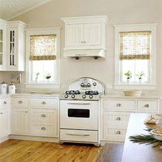 retro-küchen altmodisch holz bodenbelag weiß auswahl