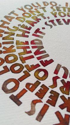 Curso caligrafía neuland, proyecto propuesto | Gordo Caligrafía Calligraphy