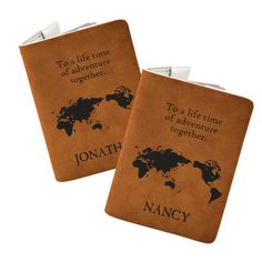 Passport covers are a great gift for travel enthusiasts, but these sweet personalized covers are more than just a passport holder; they are a promise of many adventures to come. With this gift, you'll be giving a couple the gift of memories, and when their 20-year anniversary rolls around and they celebrate with an international vacation, you know they'll be grabbing these handy passport covers before they head to the airport. #travel #passport #honeymoon