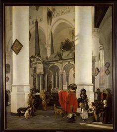 WITTE Emanuel de- Intérieur de la Nieuwe Kerk de Delft avec le tombeau de Guillaume le Taciturne- Lille ; musée des beaux-arts