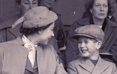 telegraph:  The Prince of Wales attends the first stage of the European Horse Trials in Windsor Great Park in 1955. He is accompanied by the Queen, Queen Mother and Princess Margaret., the Queen's sister. The Prince later became a regular at Royal Ascot.  Picture: Evening News /REX