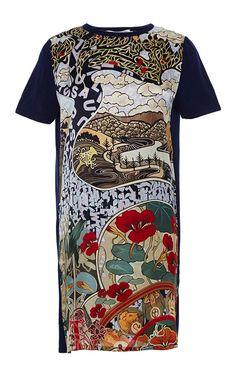 Knipi Printed Silk and Knit Cotton Dress by Mary Katrantzou Now Available on Moda Operandi