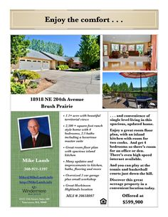 New Listing! Real Estate for Sale: $599,900-4 Bd/2.1 Ba Spacious One Level Updated Hockinson Highlands View Home with Great Room Living on 1.18 Acre at: 18918 NE 204th Ave, Brush Prairie, Clark County, WA! Area 62. Listing Broker: Mike Lamb (360) 921-1397, Windermere Stellar, Vancouver, WA! #realestate #justlisted #BrushPrairie #HockinsonHighlands #FourBedroom #OneLevelRanch #GreatRoom #updated #acreage #MikeLamb #WindermereStellar
