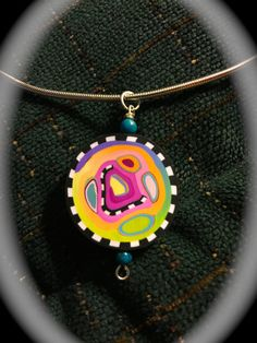 Polymer Clay Necklace One of a Kind Wholesale by MixedStudio747