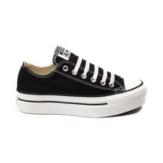 9d47df088 New Womens Converse All Star Lo Platform Sneaker Black Womens Mens Shoe II