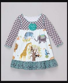 291d2d9d9 Charming Zulily boutique Silly Milly ZOO animal dress 7/8 NWOT must see! #