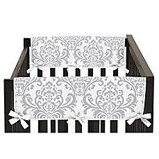 image of Sweet Jojo Designs Elizabeth Short Crib Rail Guard Covers in Lavender/Grey (Set of 2)