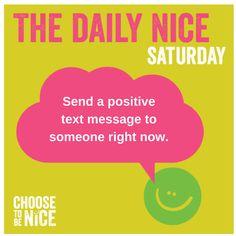 Click the image to learn more about the Choose To Be Nice Movement.     #DailyNice #WorldKindnessDay #KindnessDay #ChooseToBeNice #BeNice #ChooseKindness #Surprise #BeKind #KindnessMatters #Kindness #gratitude #happiness #KindKids #kids #Nice #philanthropy #randomactofkindness #positive #bepositive #spreadjoy #joy