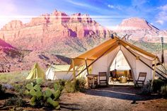A look into the digs and amenitites of Under Canvas' glamping camp at Zion National Park.